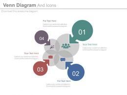 new Four Staged Venn Diagram And Icons Flat Powerpoint Design