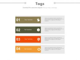new Four Vertical Tags For Business Data Analysis Flat Powerpoint Design