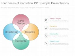 New Four Zones Of Innovation Ppt Sample Presentations