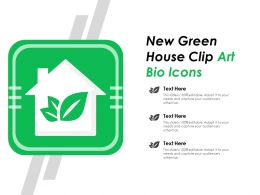 New Green House Clip Art Bio Icons