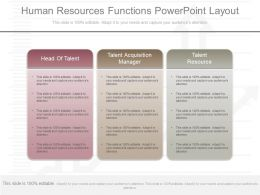 New Human Resources Functions Powerpoint Layout