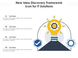 New Idea Discovery Framework Icon For IT Solutions