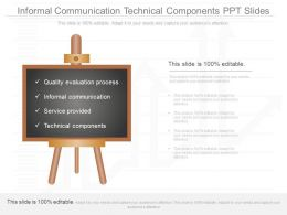 New Informal Communication Technical Components Ppt Slides