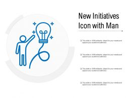 New Initiatives Icon With Man