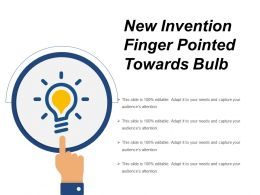 New Invention Finger Pointed Towards Bulb