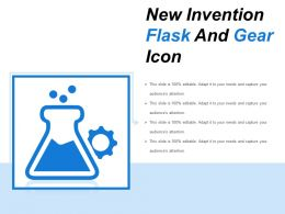 New Invention Flask And Gear Icon