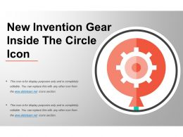 New Invention Gear Inside The Circle Icon