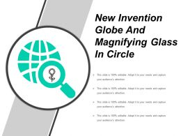 New Invention Globe And Magnifying Glass In Circle