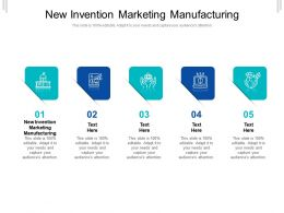 New Invention Marketing Manufacturing Ppt Powerpoint Presentation Icon Model Cpb
