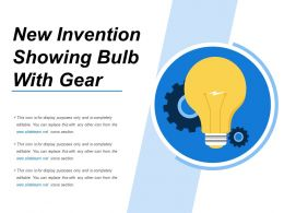 New Invention Showing Bulb With Gear