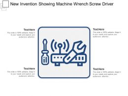 New Invention Showing Machine Wrench Screw Driver