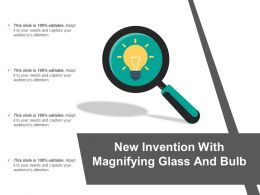 New Invention With Magnifying Glass And Bulb
