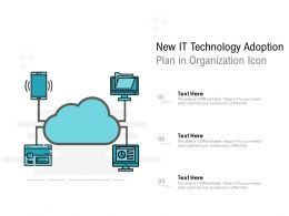 New IT Technology Adoption Plan In Organization Icon