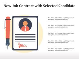 New Job Contract With Selected Candidate