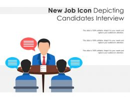 New Job Icon Depicting Candidates Interview