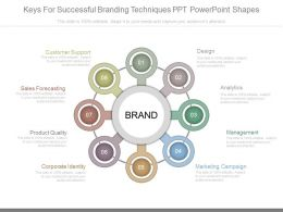 New Keys For Successful Branding Techniques Ppt Powerpoint Shapes
