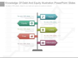 New Knowledge Of Debt And Equity Illustration Powerpoint Slides