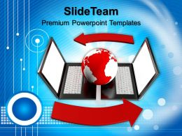 New Laptop Image Powerpoint Templates Themes Business Presentations