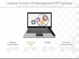 New Leading Function Of Management Ppt Samples