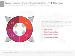 New Leads Open Opportunities Ppt Sample