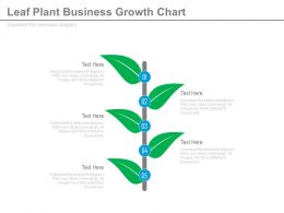 new Leaf Plant Business Growth Chart Flat Powerpoint Design