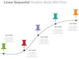 new Linear Sequential Timeline Made With Pins Flat Powerpoint Design