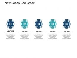 New Loans Bad Credit Ppt Powerpoint Presentation Styles Maker Cpb