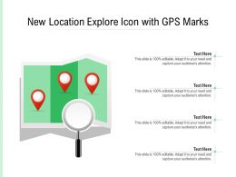 New Location Explore Icon With GPS Marks