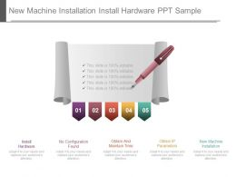 New Machine Installation Install Hardware Ppt Sample