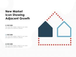 New Market Icon Showing Adjacent Growth