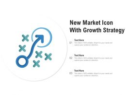 New Market Icon With Growth Strategy