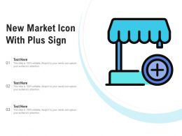 New Market Icon With Plus Sign