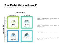 New Market Matrix With Ansoff