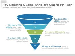 New Marketing And Sales Funnel Info Graphic Ppt Icon