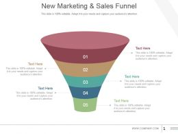 New Marketing And Sales Funnel Powerpoint Slide Download