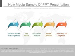 New Media Sample Of Ppt Presentation