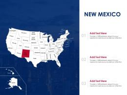 New Mexico Map Powerpoint Presentation PPT Template