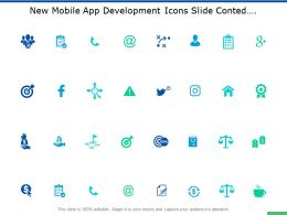 New Mobile App Development Icons Slide Conted Soical Ppt Slides
