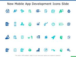 New Mobile App Development Icons Slide Opportnity Ppt Powerpoint Slides