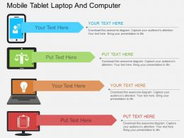 new Mobile Tablet Laptop And Computer Flat Powerpoint Design