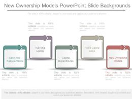New Ownership Models Powerpoint Slide Backgrounds