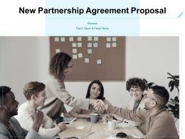New Partnership Agreement Proposal Powerpoint Presentation Slides