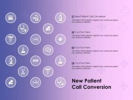 New Patient Call Conversion Ppt Powerpoint Presentation Infographic Template Example