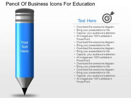 new Pencil Of Business Icons For Education Powerpoint Template