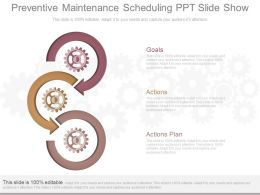 New Preventive Maintenance Scheduling Ppt Slide Show