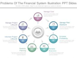 New Problems Of The Financial System Illustration Ppt Slides