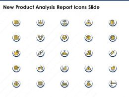 New Product Analysis Report Icons Slide Ppt Powerpoint Presentation Background Image