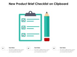 New Product Brief Checklist On Clipboard