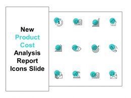 New Product Cost Analysis Report Icons Slide Technology Ppt Powerpoint Presentation Pictures
