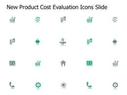 New Product Cost Evaluation Icons Slide Pillars Ppt Presentation Slides